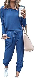 Women Two Piece Outfits Sweatsuit Set Long Pant Home wear Pajamas Set Workout Athletic Sportswear Casual Sets