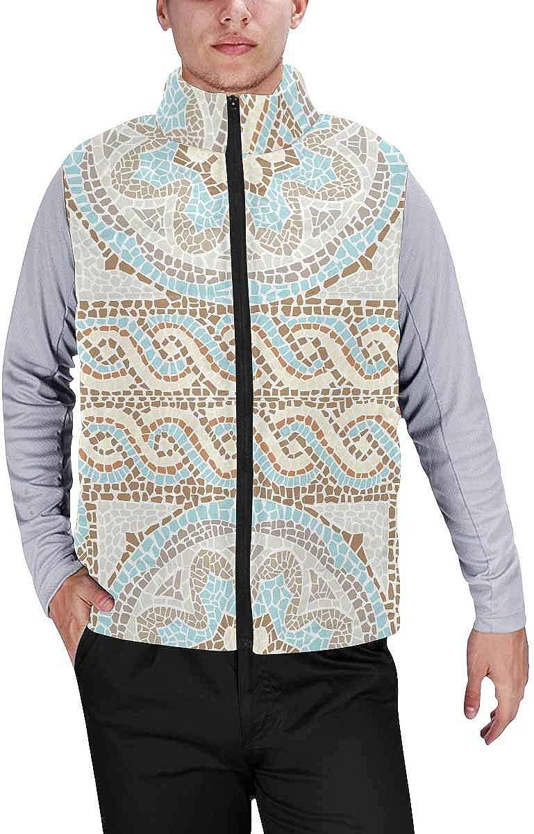 InterestPrint Men's Lightweight Vest Softshell for Camp St, Design