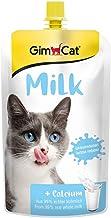 GimCat – Leche para Gatos de auténtica Leche Entera con Contenido de lactosa reducido y Calcio para Huesos sanos, 1 Bolsa (1 x 200 g)