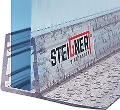 STEIGNER douchestrip, 180cm, glasdikte 6/7/ 8 mm, recht, pvc, vervangende afdichting voor douches, UK02