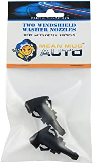 Mean Mug Auto 7133-232314B (Two) Front Windshield Washer Nozzles - For: Chevrolet (Chevy), GMC, Buick, Oldsmobile - Replaces OEM #: 15878745