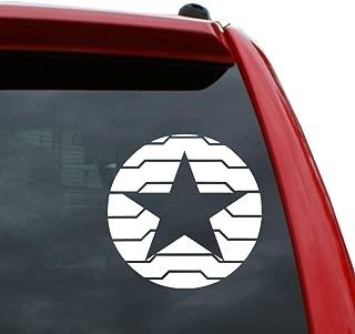 Winter Soldier Logo - Bucky Barnes Vinyl Decal Sticker   Color: White   5