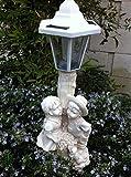 "Outdoor Garden Decor Solar Fairy Angel/Cherub Statue Sculpture Light LED, Yard Decoration, Solar Angel Lights Outdoor, Solar Angel birdbath Light 12"" (Girl & boy Cherup) -  A&A Decor"