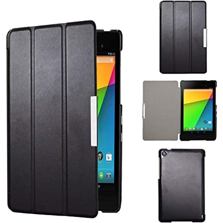 Amazon Com Nexus 7 Case Jetech Slim Fit Case Cover For Google Nexus 7 2013 Tablet W Stand And Auto Sleep Wake Function Black Computers Accessories