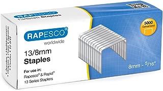 Rapesco Grapas - Caja de 5000 grapas 13/8 mm, para grapadoras manuales y de pared