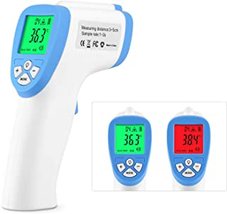 Forehead Thermometer, Non-Contact Digital Infrared Thermometer with Fever Health Alert LCD Display for Baby and Adults EG002