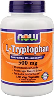 Now Foods L-Tryptophan 500 mg - 120 Vcaps (pack of 3)