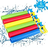 NZQXJXZ Foam Water Shooter for Kids, 6 Pack Water Guns Toys Water Blaster for Boys Girls Adults Swimming Pool Beach Summer Outdoor, Water Squirt Guns Set Up to 31ft