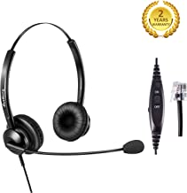 Telephone Headset RJ9 Office Call Center Headset with Noise Cancelling Microphone for Yealink Snom Fanvil Grandstream Escene