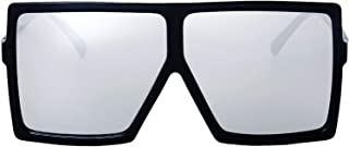 The Fresh Large Oversized Fashion Square Flat Top Sunglasses with Gift Box