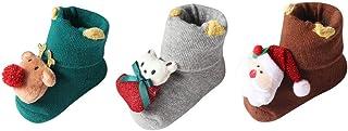 SO-buts baby accessories, SO-buts Infantil Recién Nacido Bebé Niños Niñas Navidad Santa Ciervo Navidad Antideslizante Calcetines Tejidos De Punto Pantalones Cortos Calcetines Piso Moda