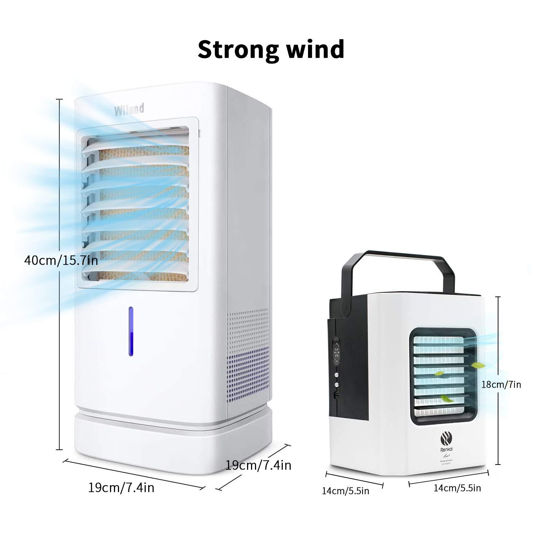 Aire Acondicionado Portátil, 180 ° Giratorio Purificador de Aire y ...