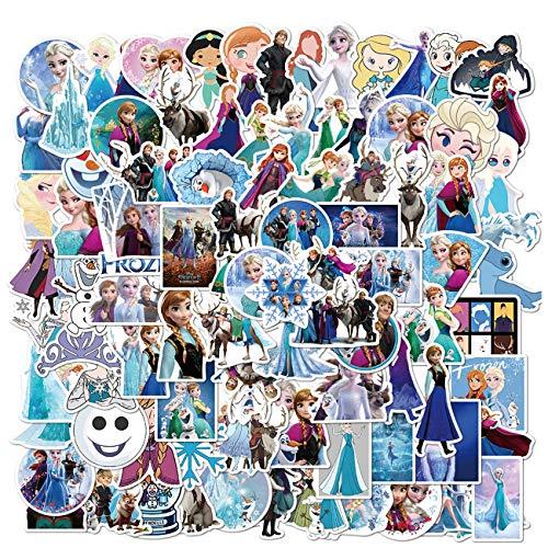 Die Eiskönigin Aufkleber 100 Stück Disne_y Aufkleber wasserdichte Vinyl-Aufkleber für Kinder, Mädchen, Teenager, Erwachsene, Wasserflaschen, Laptop, Computer, Skateboard, Gitarre, Dekoration