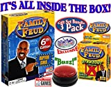 Endless Games Family Feud 6th Edition Set Bundle Includes Strikeout Card Game, Electronic Red 3-Mode Game Answer Buzzer and Count Down Timer