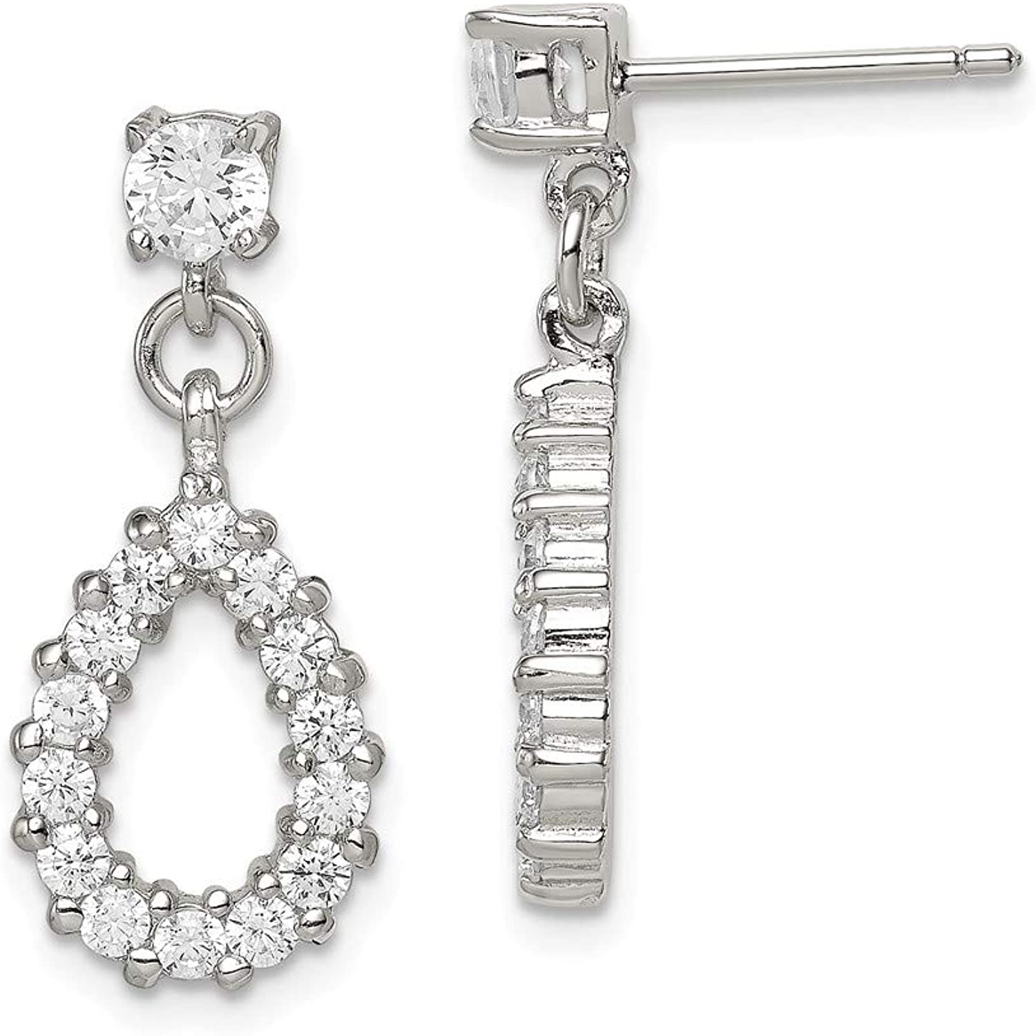 Beautiful Sterling silver 925 sterling Sterling Silver Fancy CZ Earrings