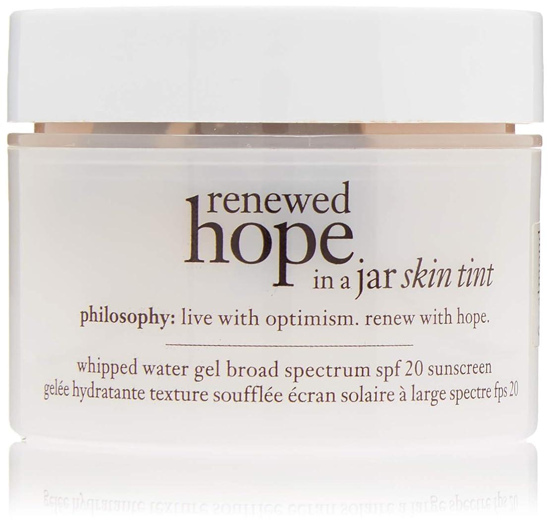 決めます宝石入口フィロソフィー Renewed Hope In A Jar Skin Tint Whipped Water Gel SPF 20 - # 6.0 Almond 30ml/1oz並行輸入品