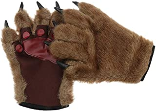 Animal Paw Gloves Wolf Gloves Hairy Hands Horrific Halloween Costume Party Cosplay Gloves Mitts Werewolf Bear Costume Kids Adult Mittens Dress up Cat Gloves Paws Claw Costume Gloves Mittens Mitts