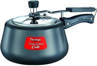 Prestige Nakshatra Cute Hard Anodized Aluminum Pressure Cooker, 3 litres, Charcoal Black