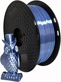 Kehuashina Silk Silver Blue 1.75mm PLA Filament 3D Printer Filament, Metal Metallic Color Gradient Filament 1KG (2.2LBS) P...