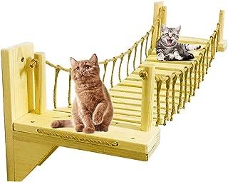 PLAFUETO Wall-Mounted Cat Bridge with 2 Fixed Brackets Cat Perch Cat Mod Cat Condo Kitty Activity Furniture Cat Climber Tree Tower Cat Cloud Shelf Board