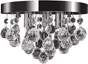 vidaXL Pendant Lamp Crystal Design Chrome Ceiling Lighting Fixture Chandelier