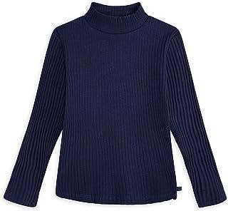 T-Shirt Jersey Collo Alto Bambina Blu BASICOS