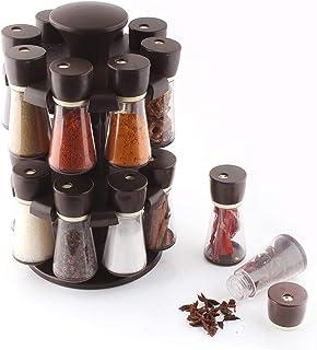 Star Gaze revolving Spice Rack Organize Storage Container | Masala Dani Box Set For indian Countertop kitchen (16 Piece Set)