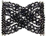 Mytoptrendz® pinces à cheveux argentées extensibles en perle double dents pour femme, peigne à cheveux, accessoires pour cheveux magique dans différentes couleurs