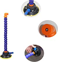 4.5 inch Heavy Duty Hand Pump Vacuum Suction Cup with flexible gooseneck pipe for pdr lamp