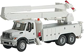 INTERNATIONAL(R) 7600 UTILITY TRUCK WITH BUCKET LIFT - ASSEMBLED -- WHITE WITH UTILITY COMPANY DECALS