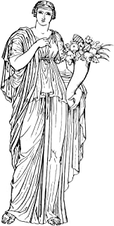 Goddess Nemesis Ngreek Goddess Of Vengeful Fate Against Hubris Line Drawing After An Ancient Statue Poster Print by (18 x 24)