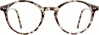 Blue Light Blocking Glasses Men Women Vintage Thick Round Rim Frame Eyeglasses