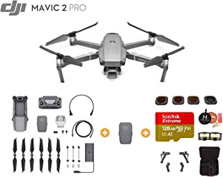 DJI Mavic 2 Pro Drone Quadcopter with Extra Battery, Ultimate Bundle, with 128GB SD Card, Filter Set (CPL ND8 ND16 ND32), Landing Gear, Landing Pad and Professional Case