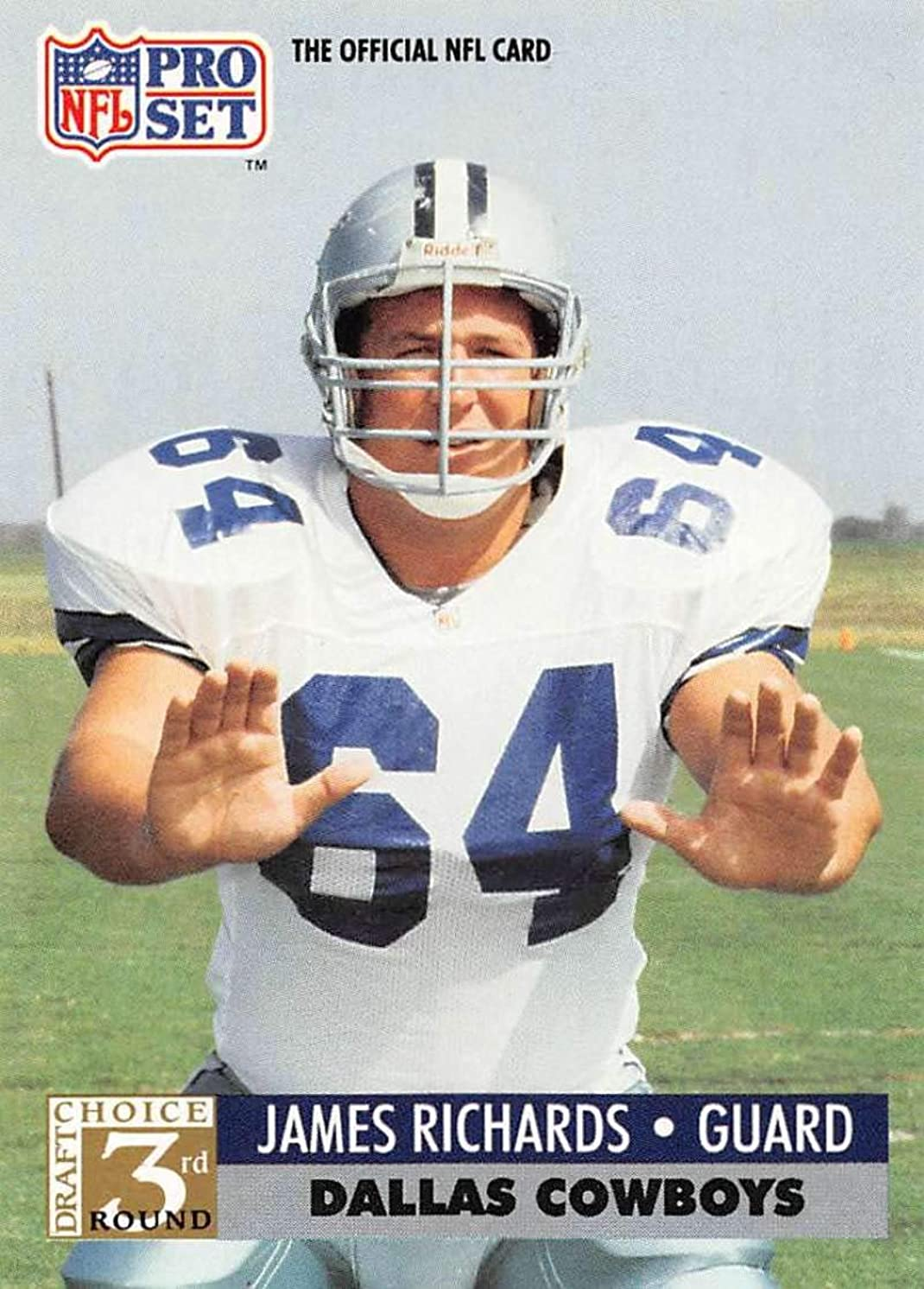 1991 Pro Set Football Card #793 James Richards DC RC Rookie Card Dallas Cowboys Official NFL Trading Card
