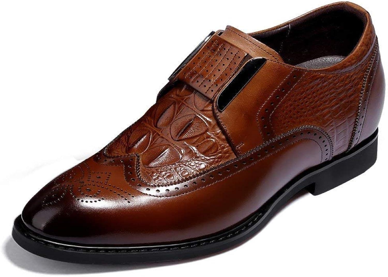 Eeayyygch Herren Leder Unsichtbare Höhe zunehmende Schuhe Schuhe Schuhe 7cm Bräutigam Set Fuß Hochzeitsschuhe Krokoprägung Business-Kleid Schuhe Derby Schuhe (Farbe : Braun, Größe : 5UK(Foot Length 24.5cm)) B07JVNNZDN  9b8e31