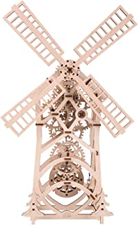 GENERIC 3D Wooden Windmill Puzzle DIY al Transmission Model Assembly Toys Creative Gift