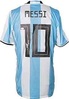 Lionel Messi Signed Adidas Argentina Home Medium Soccer Jersey BAS
