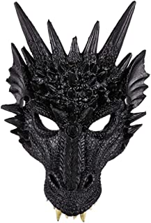 Unisex 3D Dragon Mask Christmas Halloween Cosplay Costume Props for Adult and Kids