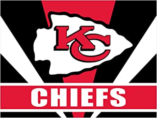 DIY 5D Diamond Painting Kits Football Team for Adults Crystal Rhinestone Pictures Arts Craft for Home Wall Decor Full Drill 12x16 Inch (Kansas City Chiefs)
