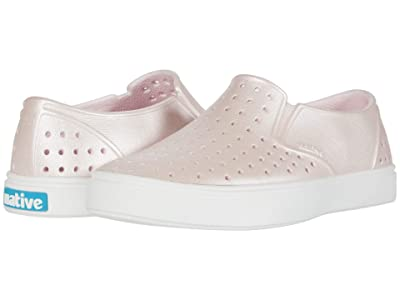 Native Kids Shoes Miles Metallic (Little Kid/Big Kid) (Milk Pink Metallic/Shell White) Girl