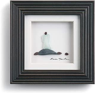 DEMDACO Sharon Nowlan The Angel Espresso Finish 6 x 6 Dimensional Framed Wall Art Plaque