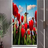ViLJe Anti UV Static Decorative Glass Film Window Stickers, The Famous Dutch Win, Peel and Stick Removable Window Sticker for Home Decorative W17.7 x L78.7 Inch