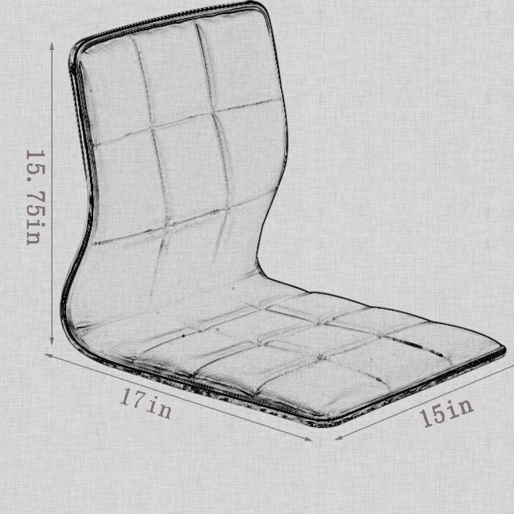 ZKZK Assise en matériau PU - La Chaise statami sans Jambes à Dossier Paresseux Peut être utilisée comme Chaise de Jeu, Chaise de Camping (Trois Couleurs en Option) Schwarz