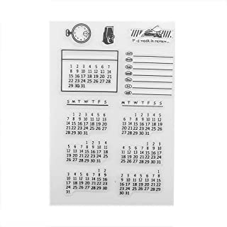 SIXQJZML Mixed Calendar Planner Clear Transparent Rubber Silicone Stamps Seal Block for Card Making Scrapbooking Decoration Words Journaling DIY Album