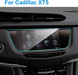 UPONEW Tempered Glass Screen Protector for Cadillac CT5 2016-2020 9H Anti Scratch High Clear Center Control Display Navigation Screen Protector for Cadillac CT5 16-20