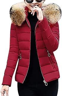 Women Coat, E-Scenery Winter Warm Faux Fur Hooded Short Slim Cotton-Padded Jackets
