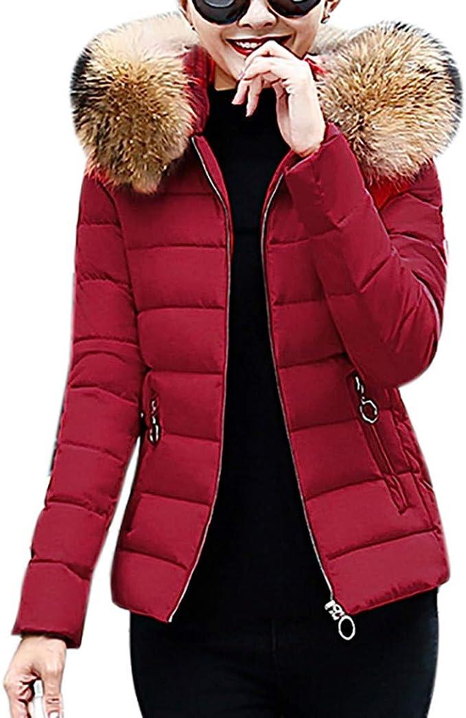 uomogo donna elegante giacca invernale corta trapuntata da donna piumino  giacca con cappuccio calda cappotti : amazon.it: moda  amazon.it