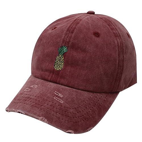 1fef91a0003 City Hunter C104 Pineapple Cotton Baseball Cap Multi Colors