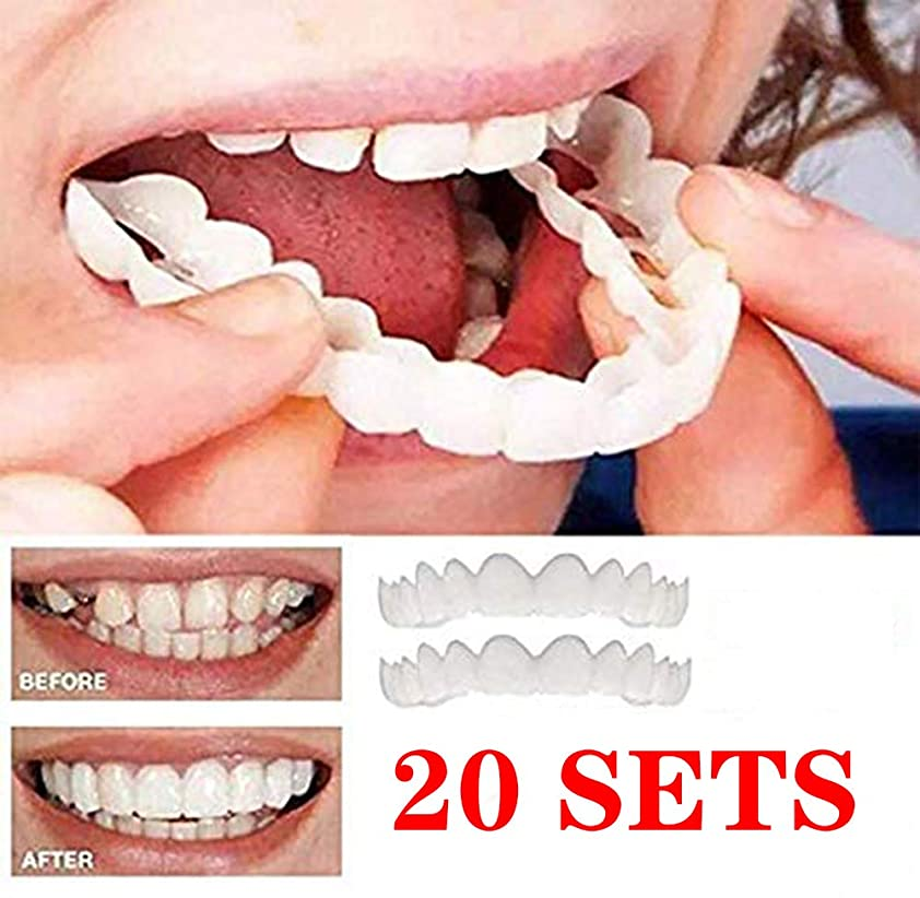 コンパイルより認可セットの第二世代のシリコーンのシミュレーションの義歯を白くする上部の下の歯の模擬装具,5SETS