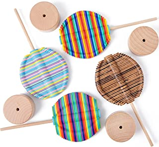 Rotating Stick Toy Wooden Spiral Lollipop Stress Relif Toy Spinning Magic Wand Decompression Kit Fibonacci Sequence Toy